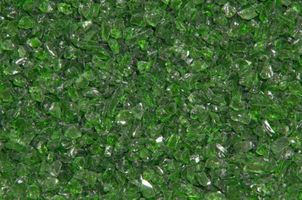 zielone szkło ozdobne