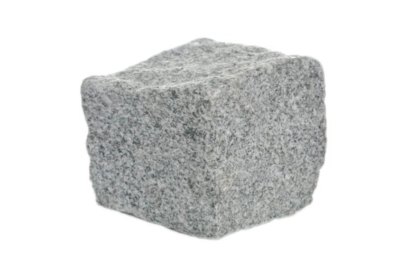 Kostka granitowa drobnoziarnista ciemnoszara